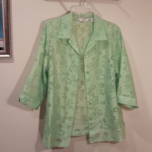 Lime Green Burnout Blouse